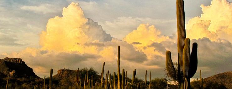 Sunset Photo Puffy Clouds